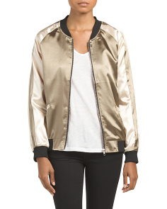Juniors Silky Bomber Jacket