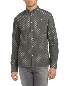 Printed Poplin Button Down Shirt