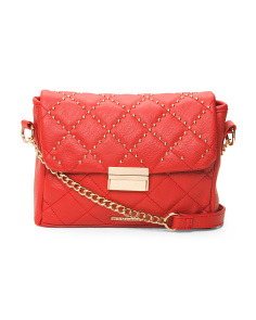 Quilted Crossbody With Studs
