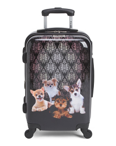 20in Dog Print Hardside Carry-On