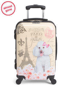 20in Paris Poodle Hardside Carry-On