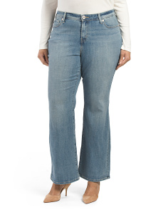 Plus Defined Waist Boot Cut Jeans