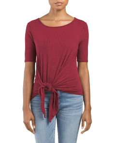 Juniors Made In USA Knotted Top