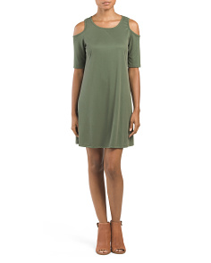 Juniors Made In USA Brushed Knit Dress