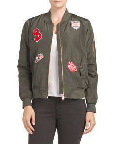 Juniors Bomber Jacket With Patches