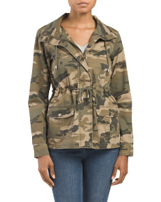 Juniors Camo Anorak Jacket