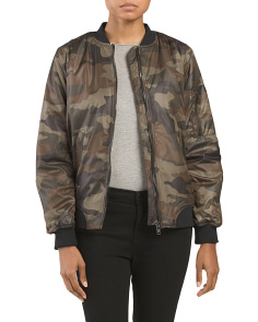Juniors Camo Bomber Jacket