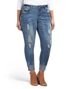Plus Juniors Selvedge Ankle Jeans