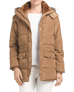 Juniors Hooded Puffer Jacket