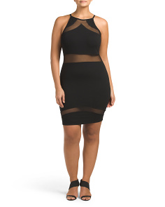 Plus Juniors Made In Usa Bodycon Dress