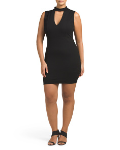 Plus Juniors Made In Usa Choker Dress