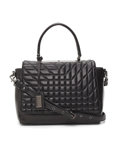 Frankie Quilted Leather Satchel
