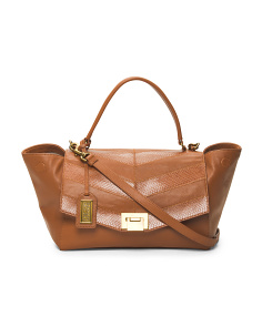 Remy Wing Leather Satchel