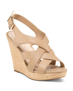 Open Closed Wedge Sandals