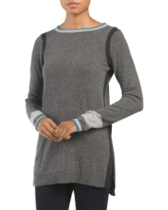 Cashmere Tipped Tunic Sweater