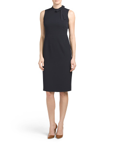 Crepe Dress With Tie Neck