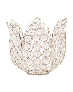 Made In India Monroe Crystal Lotus Votive