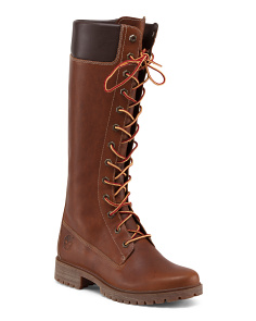 Waterproof Lugged Leather Boots