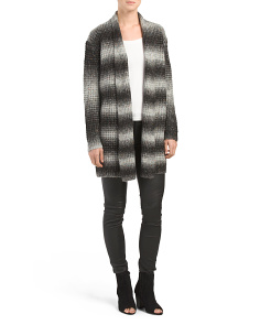 Ombre Striped Sweater Duster