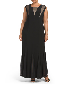 Plus Mesh Inset Gown
