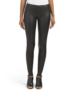 Juniors Faux Leather Leggings
