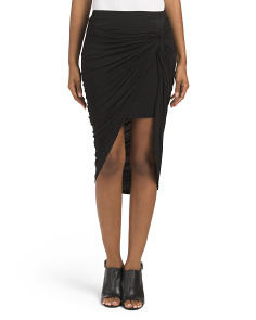 Juniors Knotted Midi Skirt