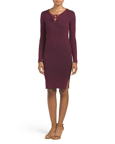 Juniors Sweater Ribbed Midi Dress