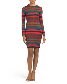 Juniors Ribbed Sweater Dress