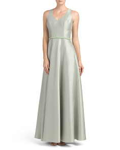 Zibeline Sleeveless V Neck Gown