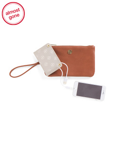 Wallet Wristlet With Portable Charger
