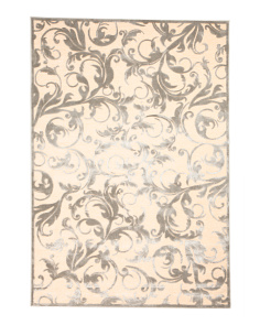 5x7 Made In Turkey Saphir Textured Floral Area Rug