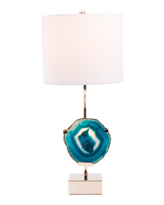 Natural Agate Table Lamp