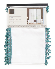 40x84 Tassels Trim Set Of 2 Curtains