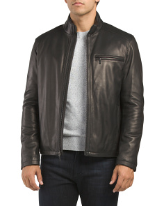 Smooth Lamb Leather Varsity Jacket