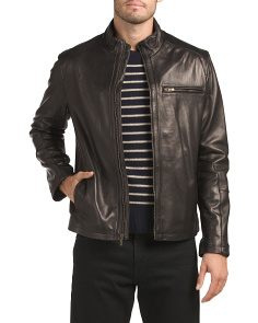 Smooth Lamb Leather Moto Jacket