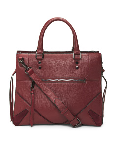 Broome Convertible Leather Satchel