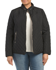 Plus Quilted Jacket
