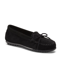 Whip Stitch Suede Moccasins