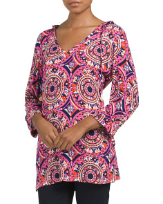 Three Quarter Sleeve Knit Tunic