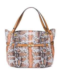 Made In Italy Python Patent Leather Hobo