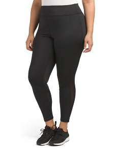 Plus Active Mesh Inset Leggings