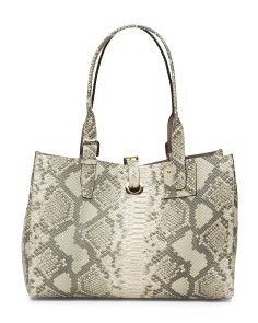 Made In Italy Python Leather Tote