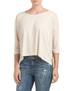 Juniors Dolman Sleeve Knit Top