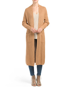 Juniors Pocket Sweater Duster