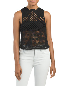 Juniors Crochet Shell Tank