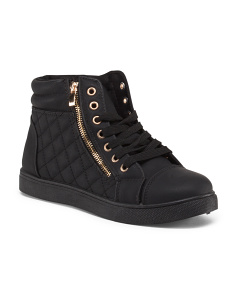 Quilted Side Zip Sneakers