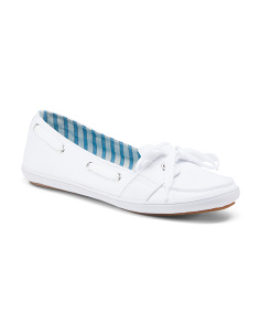 Slip On Canvas Boat Shoes