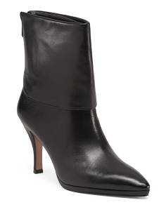 Soft Calf Foldover Ankle Booties