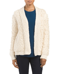 Made In USA Loop Stitch Cardigan