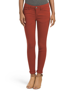 Juniors Roll Cuff Skinny Pants